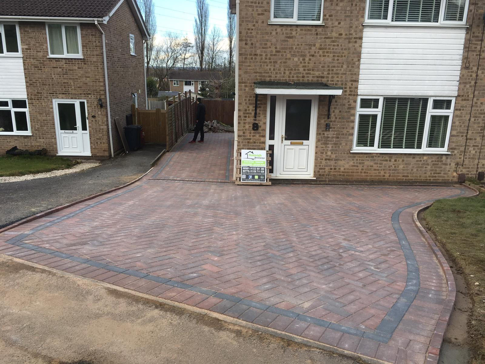 New Block Paving Driveway in Castle Donington, Leicestershire